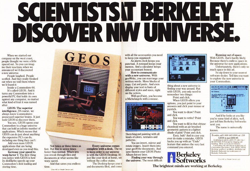 C64 GEOS advert