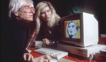Amiga 1000 launch show - Debbie Harry and Andy Warhol