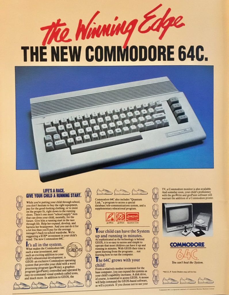 Commodore 64C advert