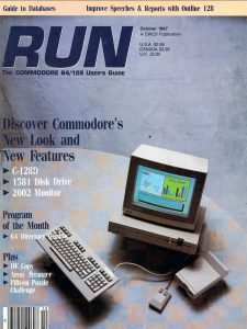 C128D - Run Magazine cover, Oct 1987