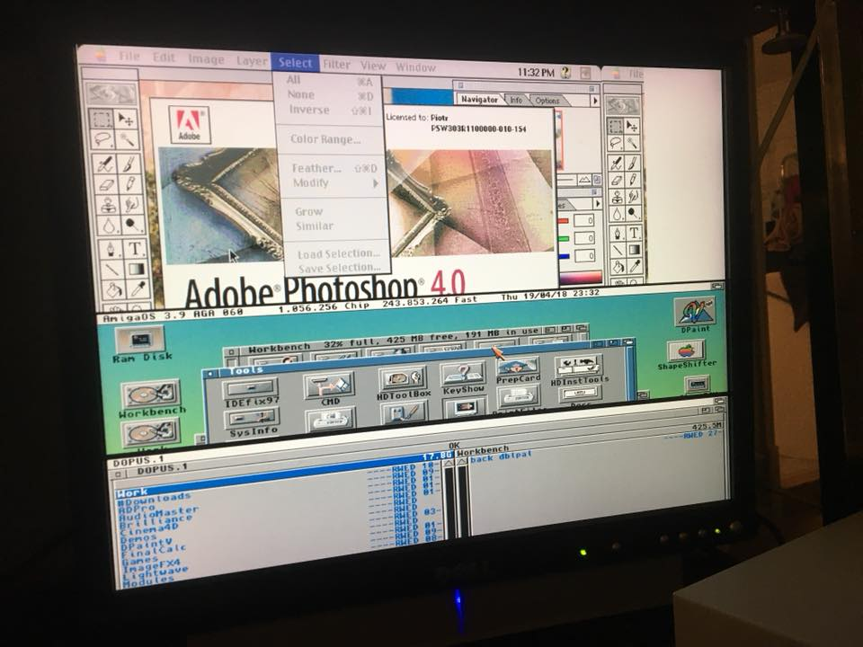 Running Amiga OS 3.1 and Mac emulator