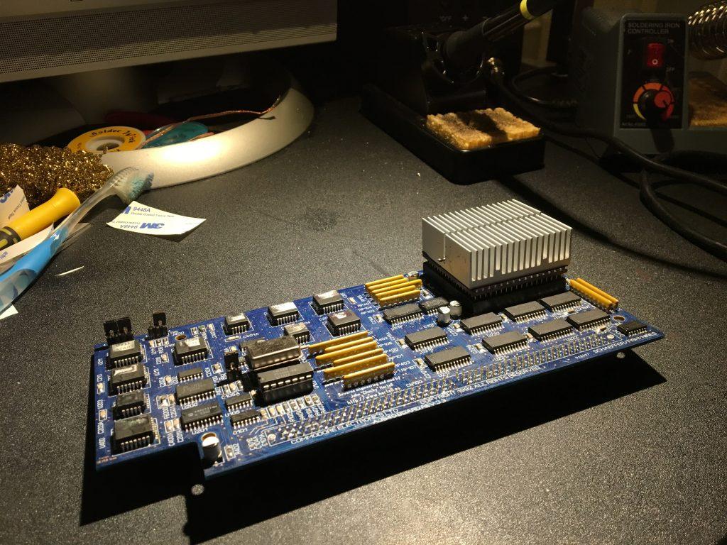 A3640 CPU board, soldering