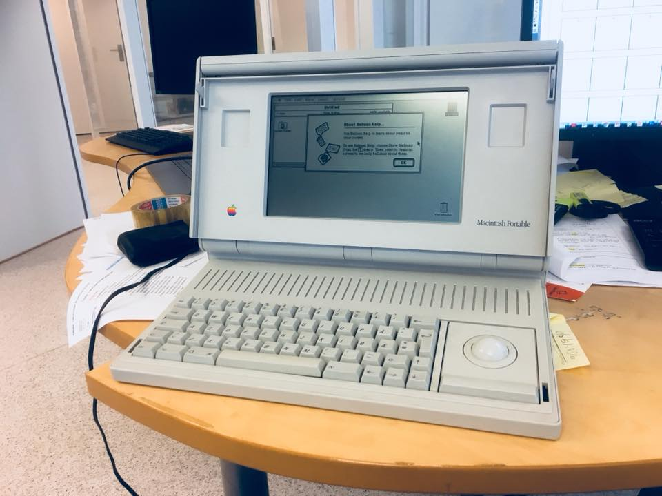 Macintosh Portable as seen in my collection..