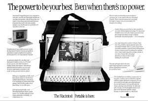 Macintosh Portable advert