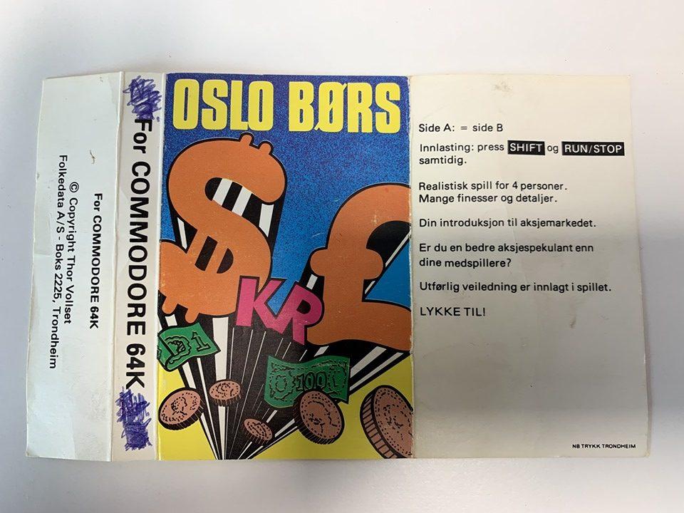 Original cassette cover for Oslo Børs
