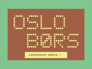 Oslo Børst - Commodore 64 opening screen
