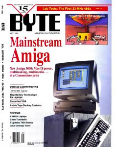 Amiga 3000 on cover of Byte Magazine - May 1990