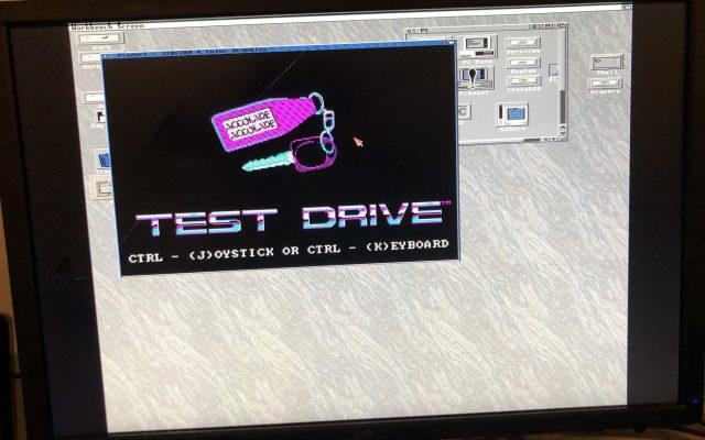 A2088XT PC emulator running Test Drive
