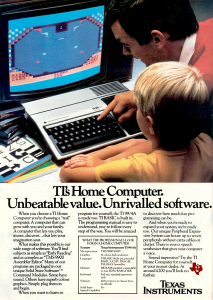 TI-99/4A magazine advert