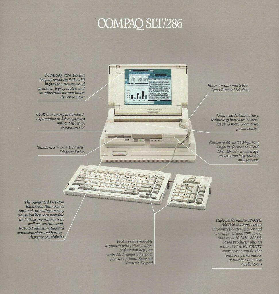 Compaq SLT/286 - backside brochure